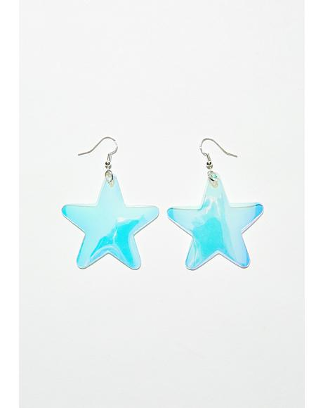 Cosmic Starlet Iridescent Earrings