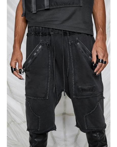 Synth Unisex Washed Cargo Shorts