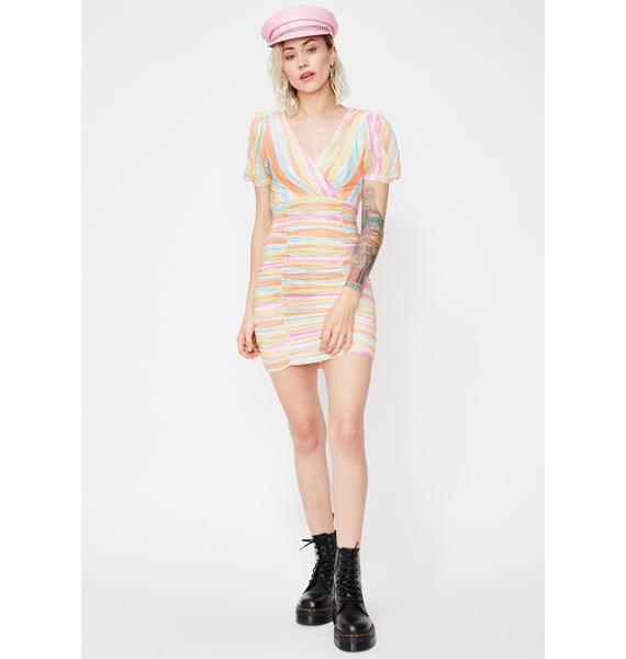 Pastel Princess Mini Dress