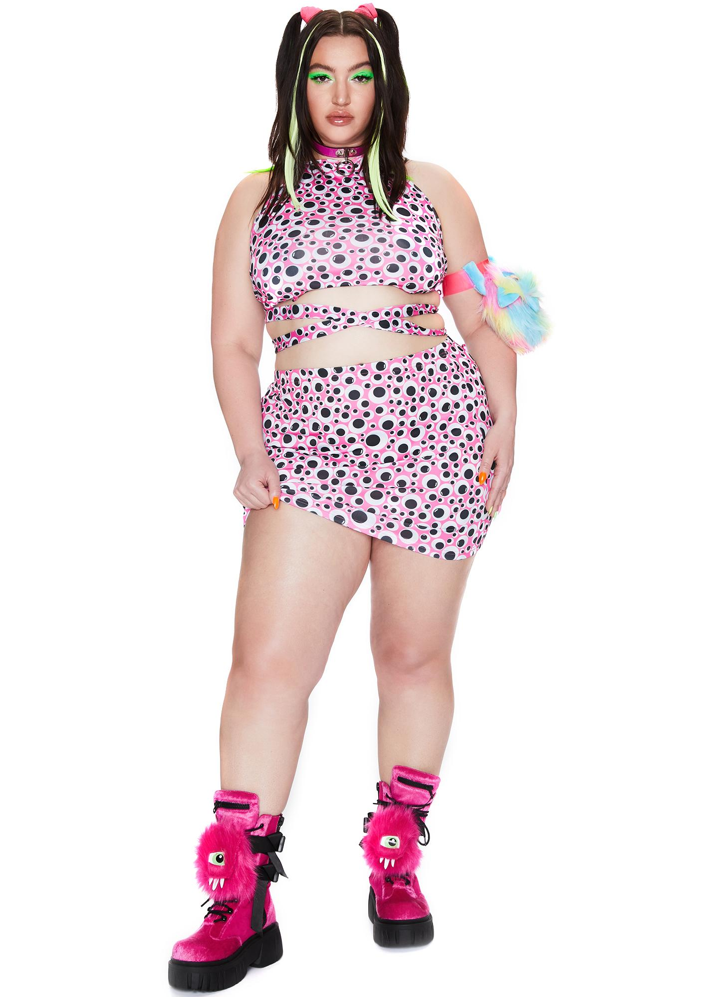 Club Exx Major Eye Roll Mini Skirt