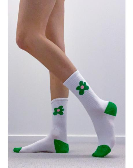 Ivy Flowers For You Crew Socks