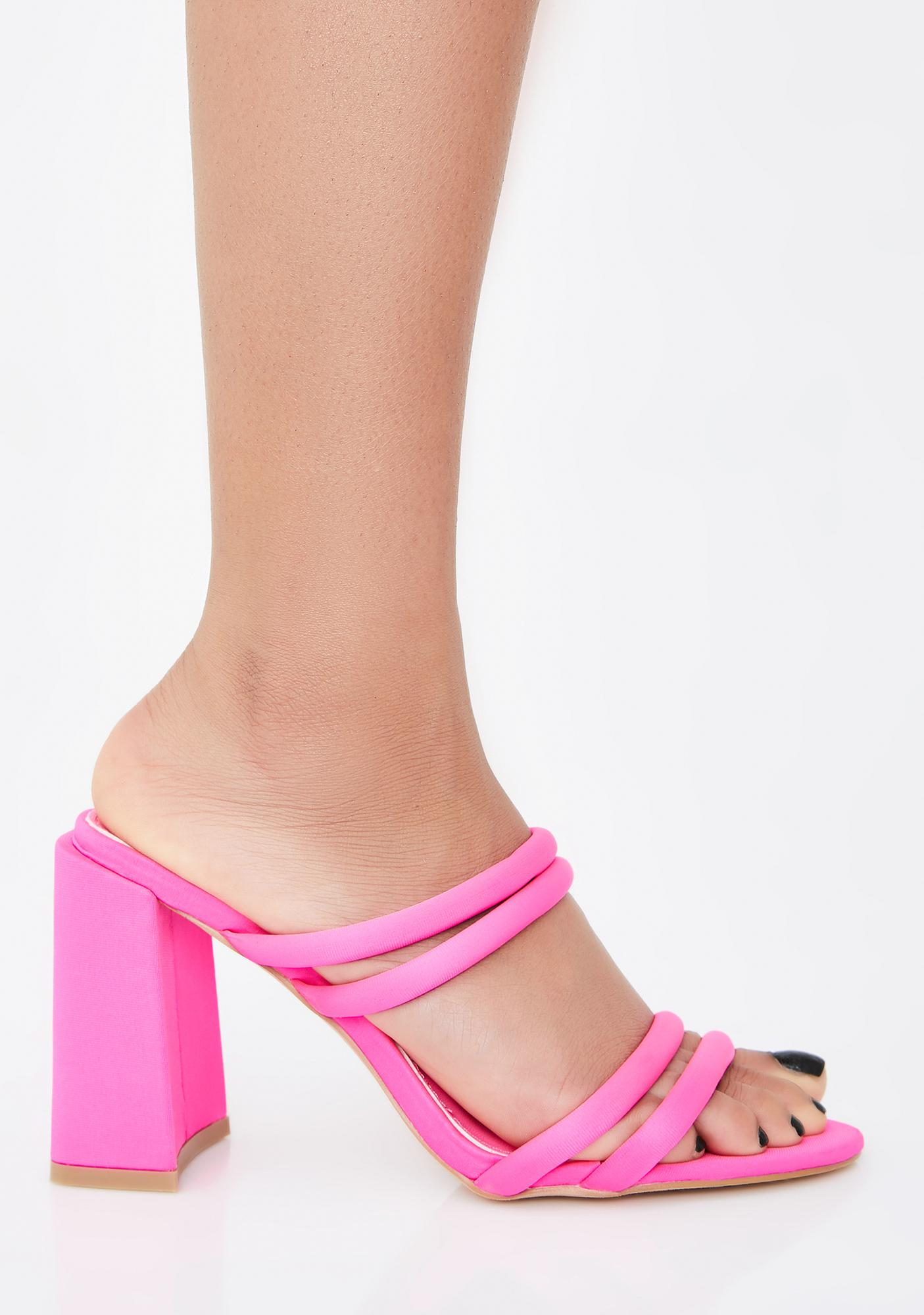 Fame Addict Strappy Mules