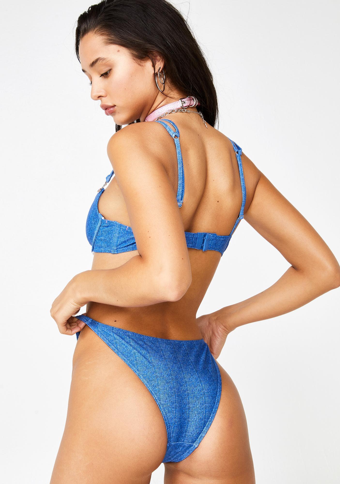 Sugar Thrillz Cover Girl Denim Bikini Set