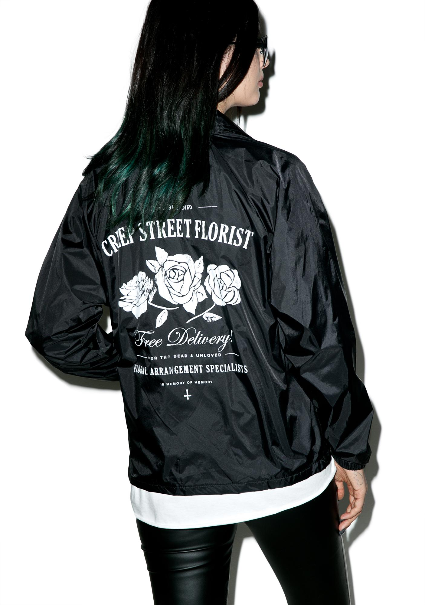 Creep Street Creepy Florist Coaches Jacket