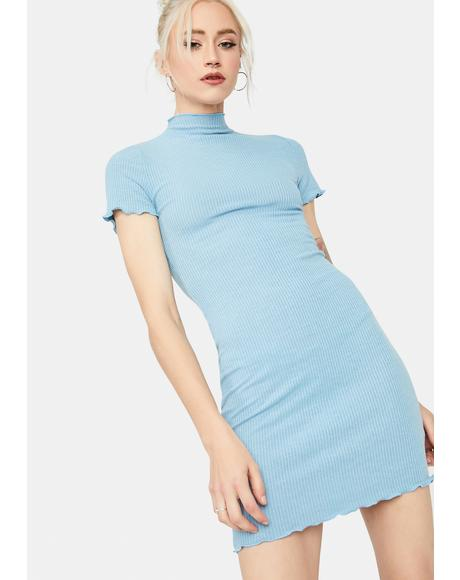 Sky Lucid Love Ribbed Mini Dress