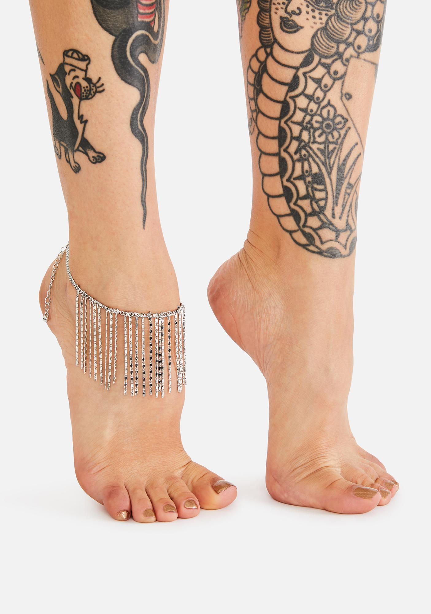 See Me Shine Rhinestone Anklet