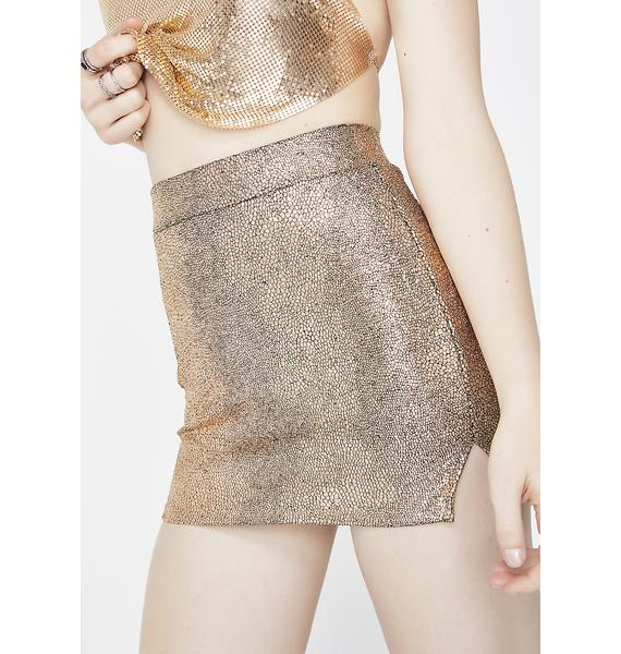 Golden Always Shinin' Mini Skirt
