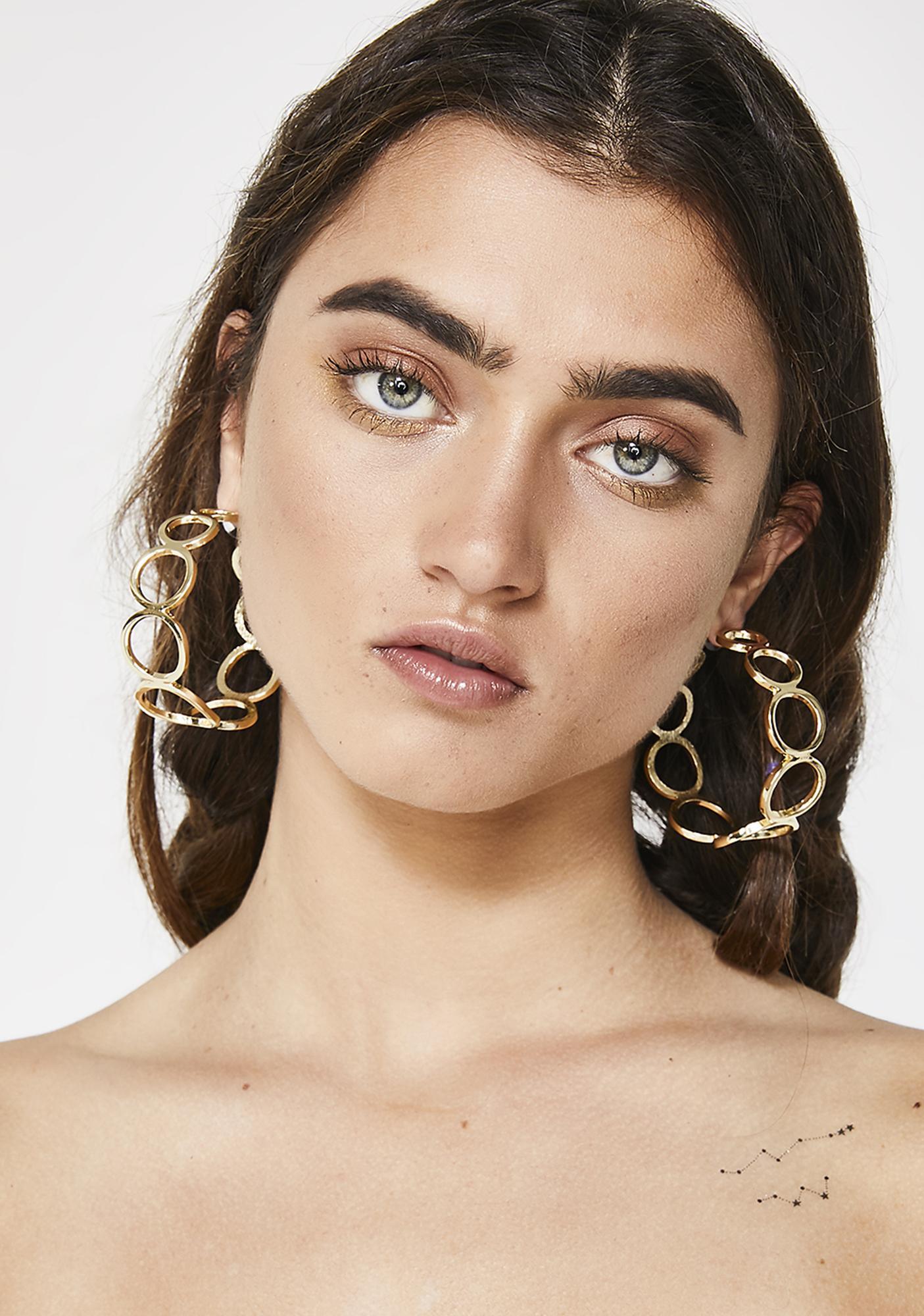 Looped In Hoop Earrings