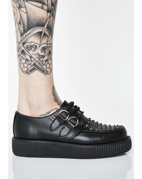 Leather Stud Viva Low Creepers