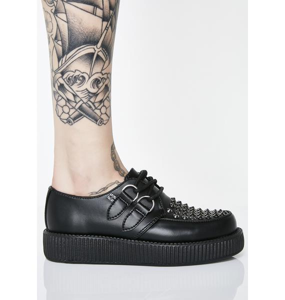 T.U.K. Leather Stud Viva Low Creepers