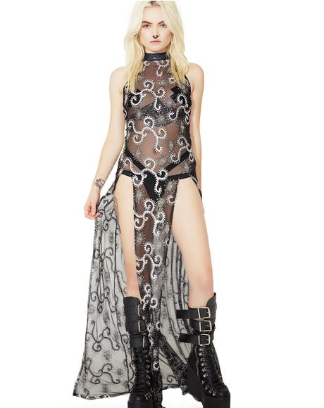 Storm Sequin Mesh Gown