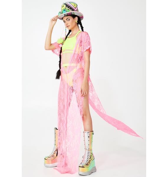 Kiki Riki Lady Malice In Wonderland Lace Kimono