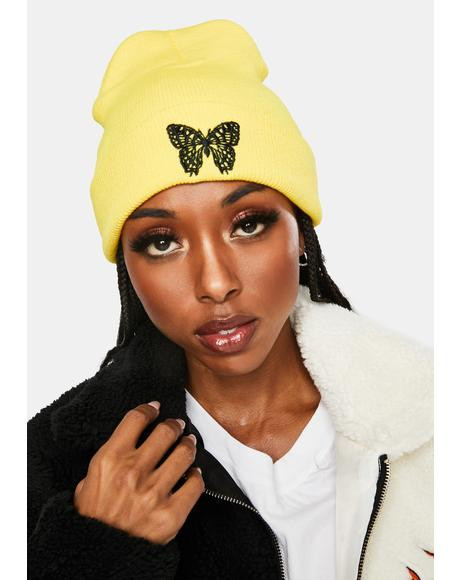 Honey Wild Wings Embroidered Beanie