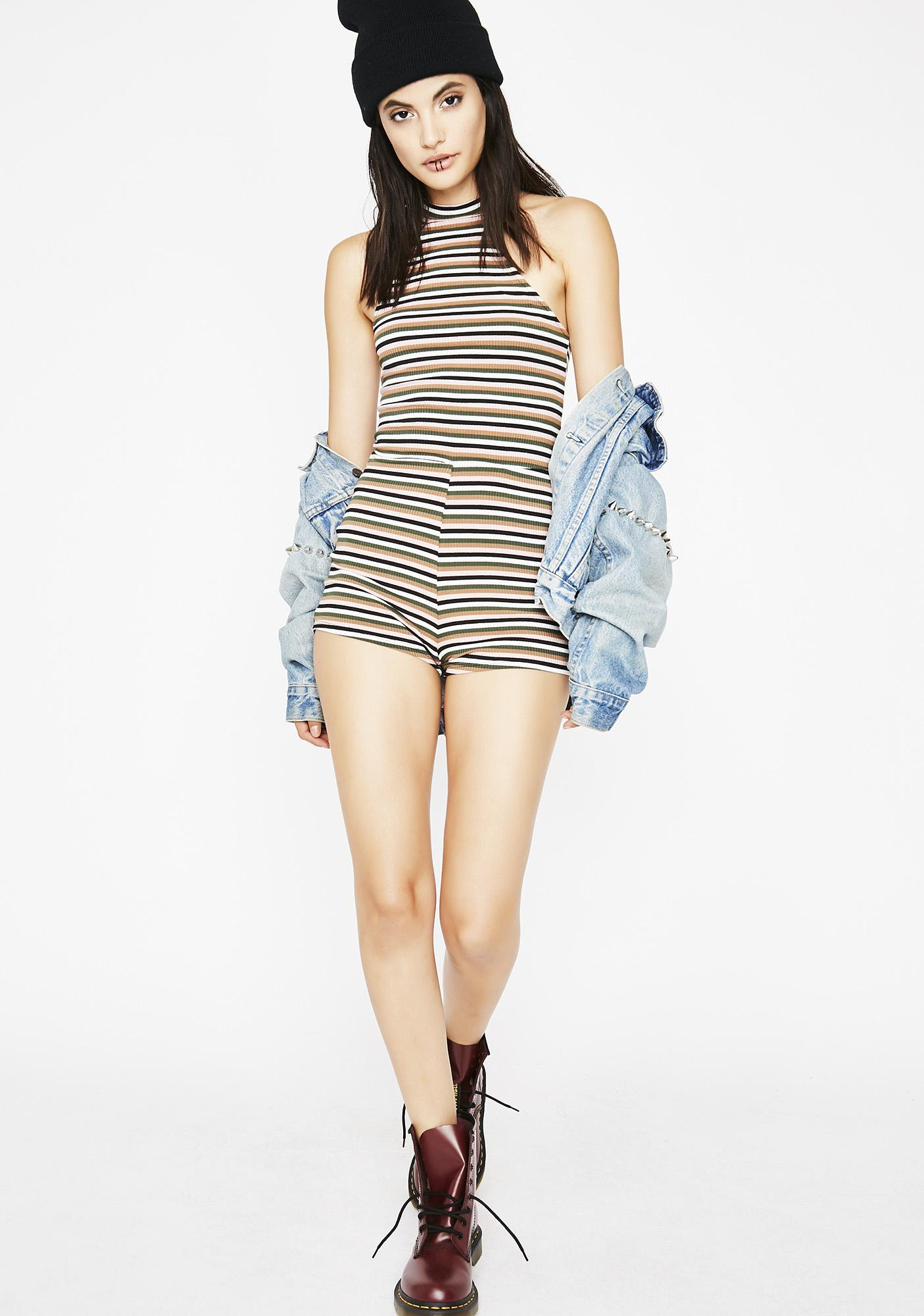 Can't Stop Striped Romper