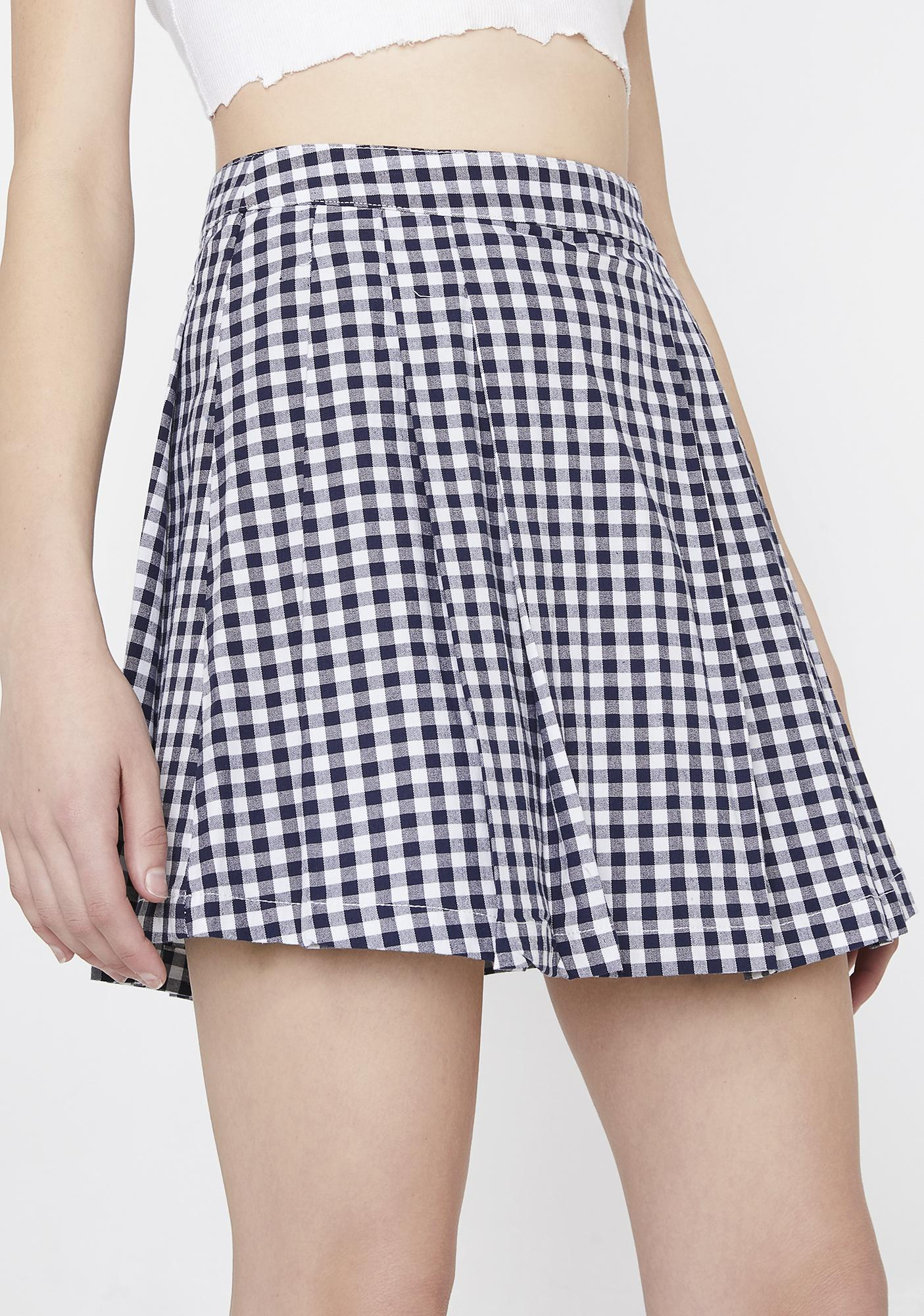 Gingham Frochickie Skirt by Volcom