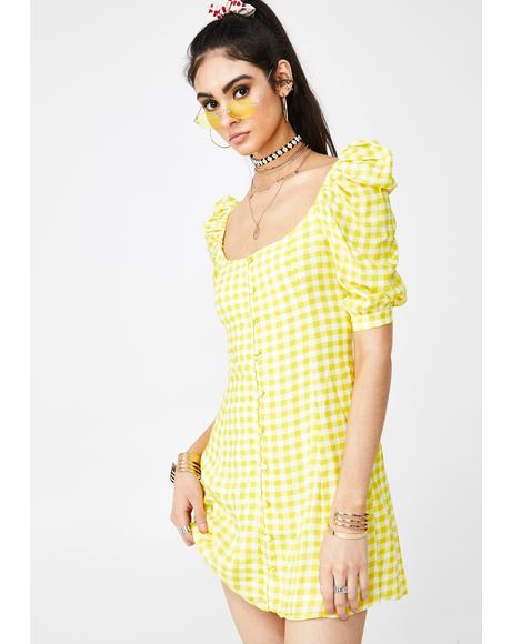 Lemonade Cherry Mini Dress