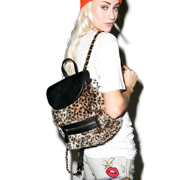 Nila Anthony Cheetah Fur Mini Backpack