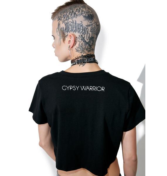 Gypsy Warrior Rock & Roll Crop Tee