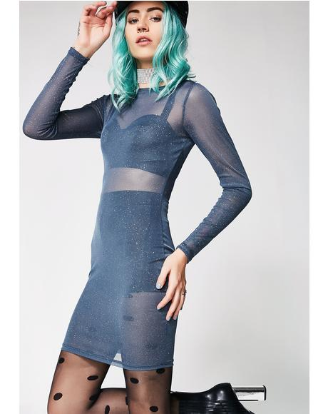 It's Complicated Sheer Mini Dress