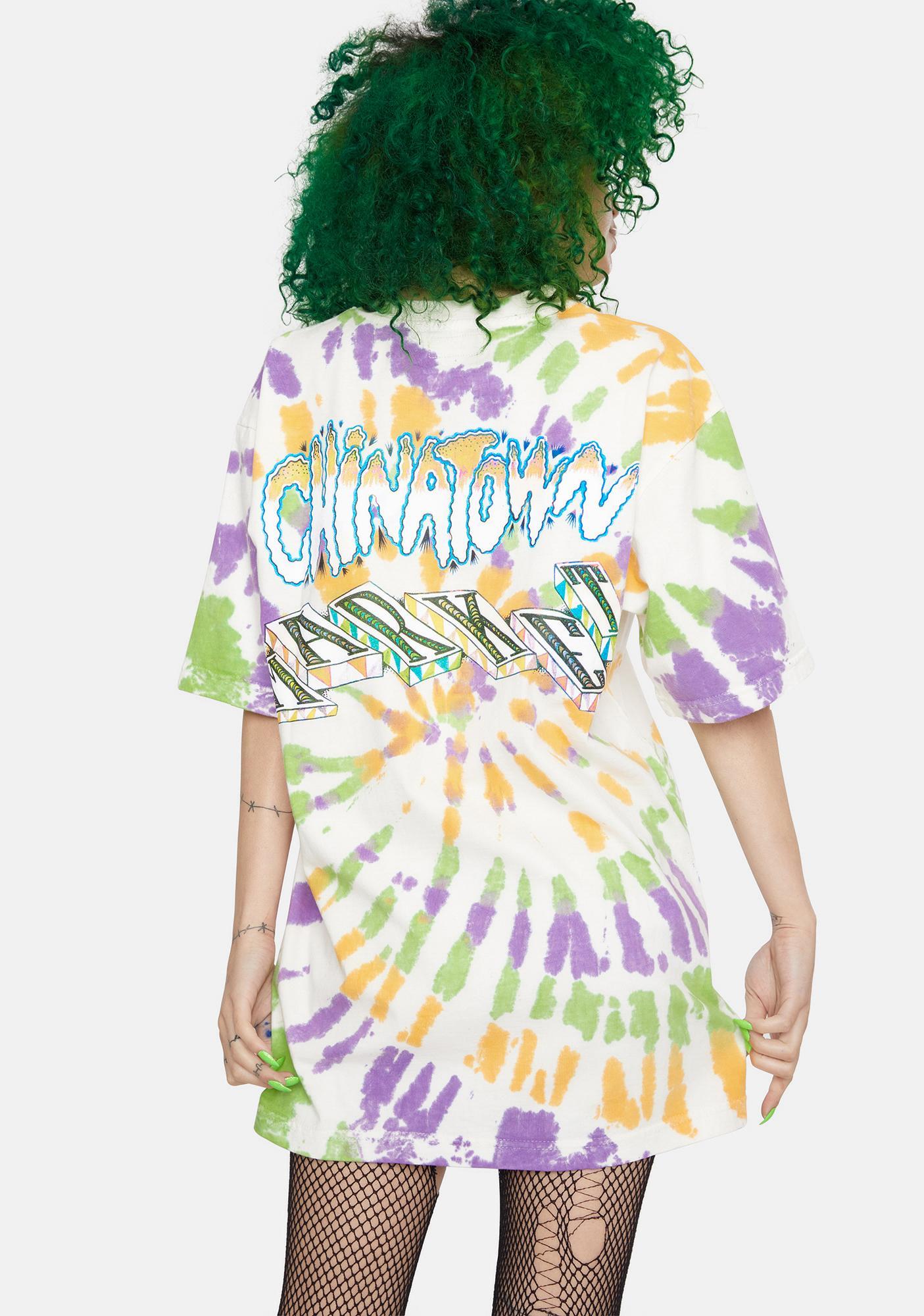 CHINATOWN MARKET Tie Dye Block Graphic Tee