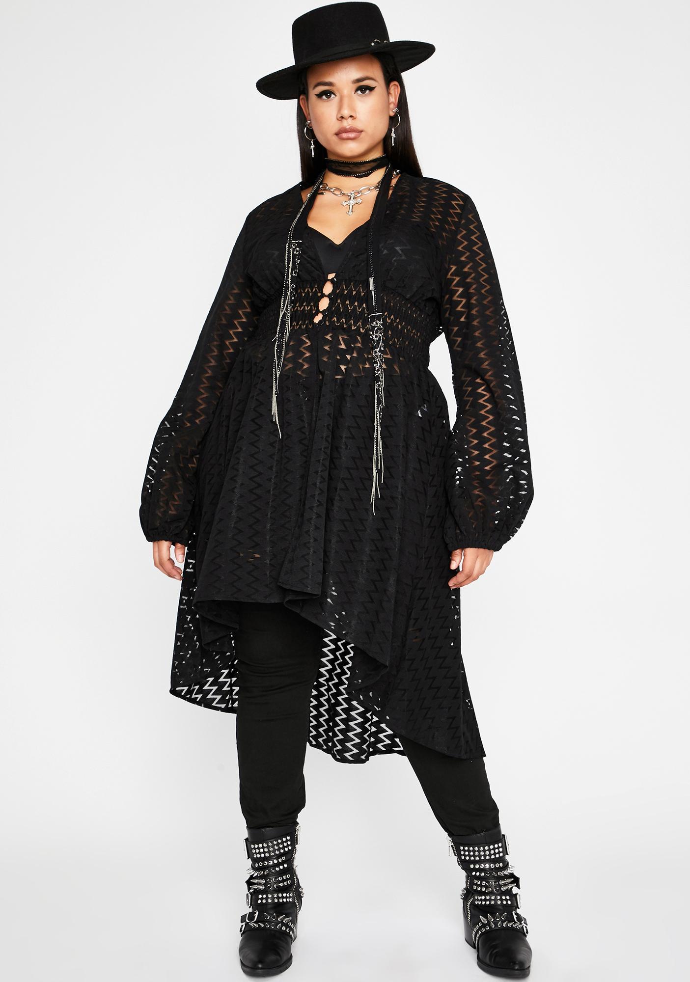 Just Empress Me Sheer Jacket