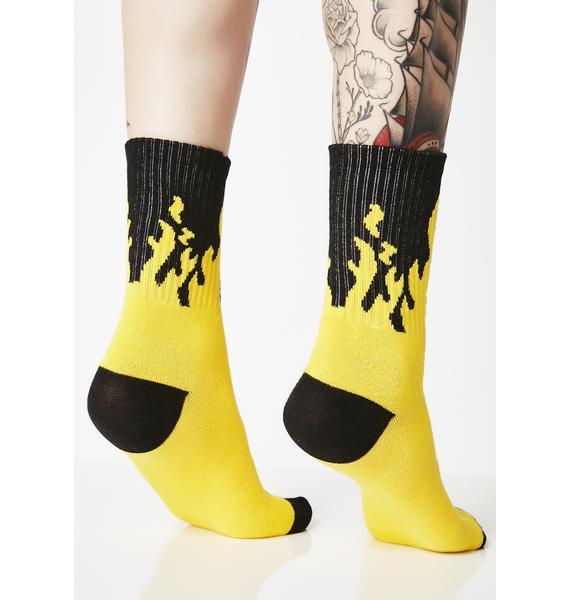 Turn Up The Heat Flame Socks