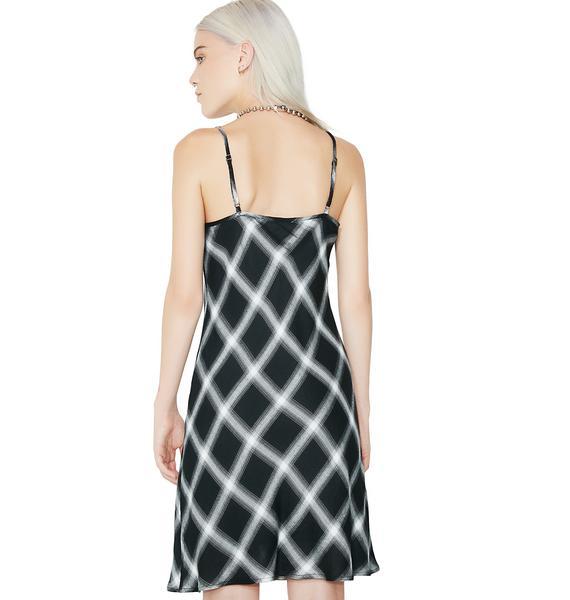 Dark No Promises Plaid Dress
