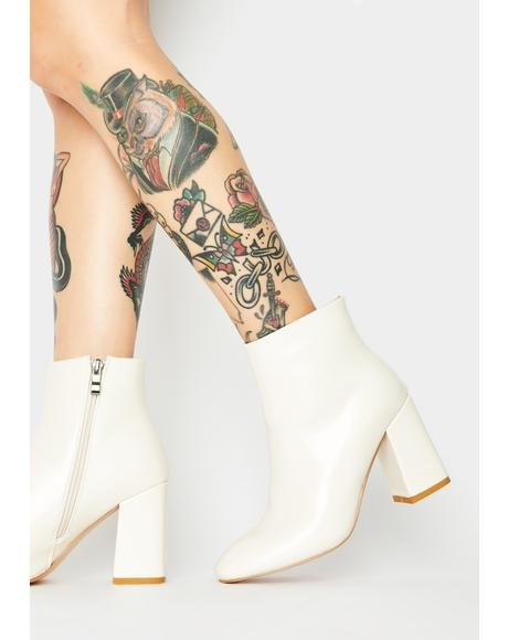 Off White Aimee Patent Ankle Boots