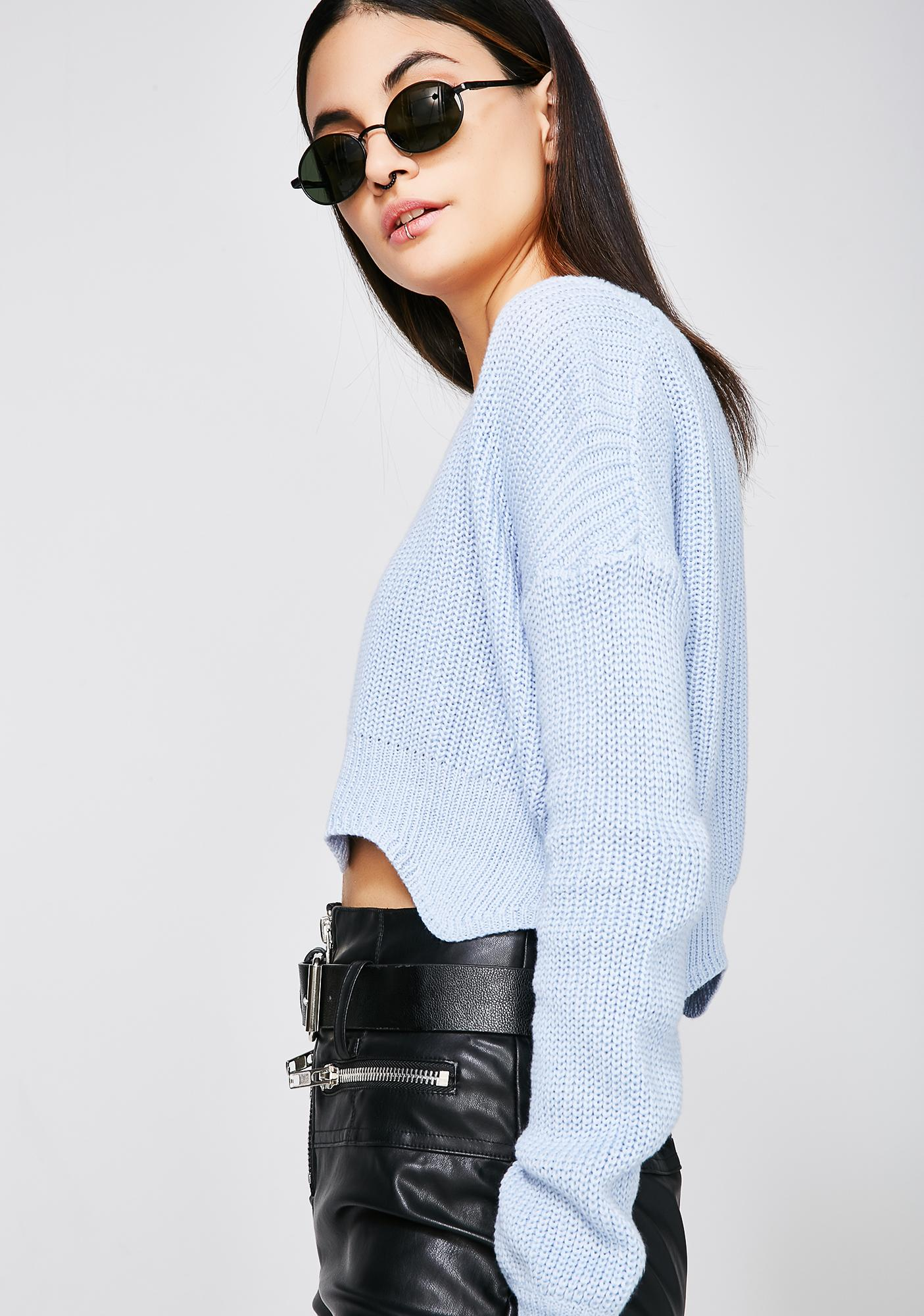 So Wavy Cropped Sweater