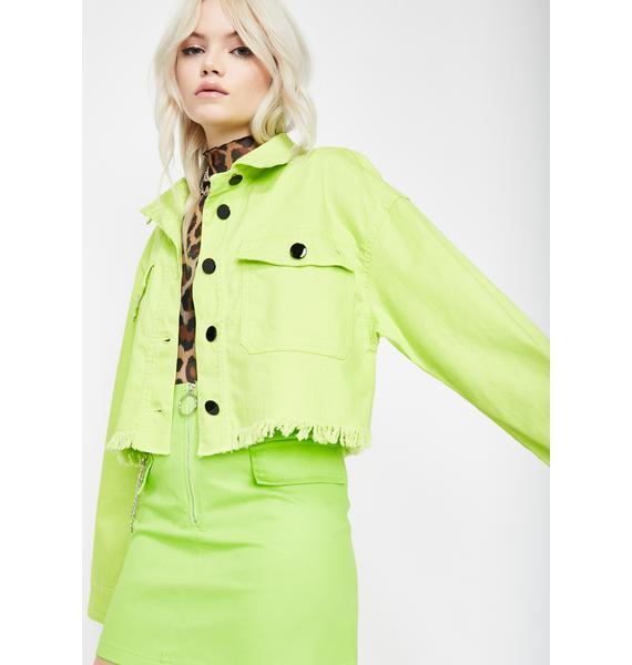 Electric Privileged Princess Crop Jacket