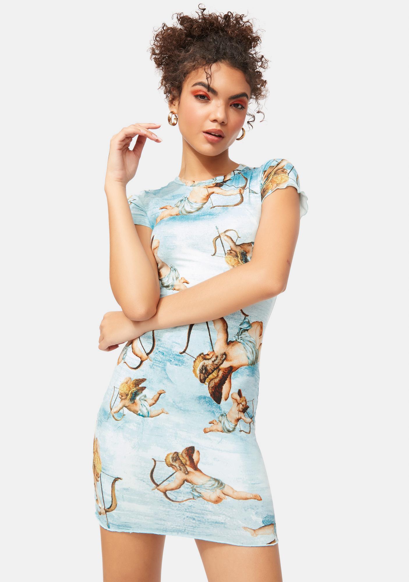 Goddess Timing Cherub Mini Dress