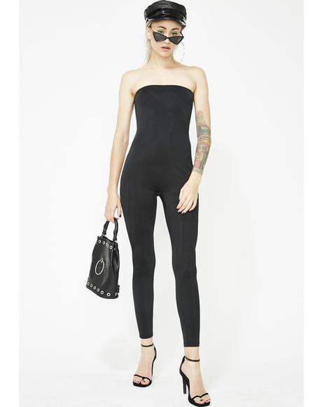 Call The Shots Strapless Jumpsuit