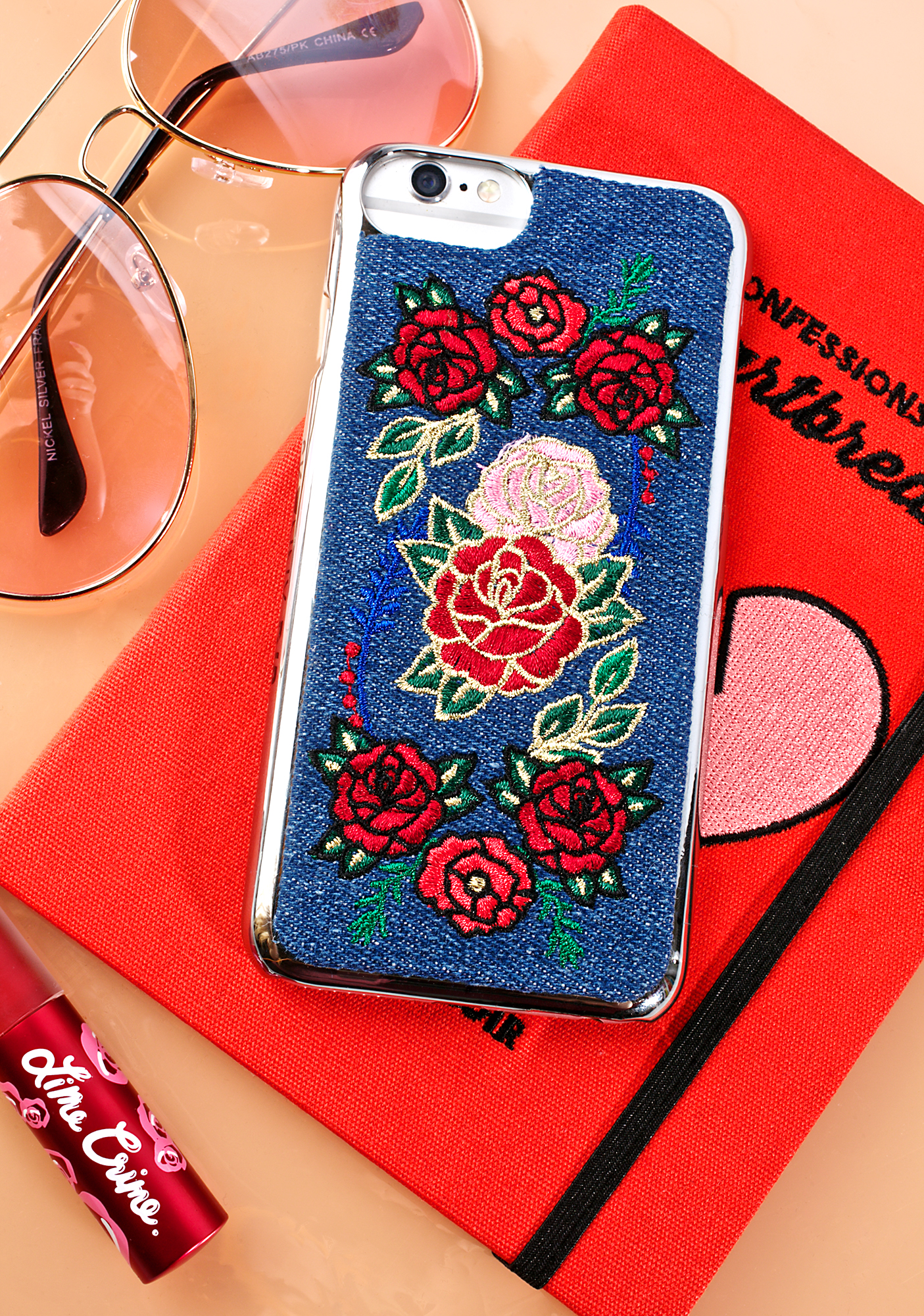 Skinnydip Denim Floral iPhone Case