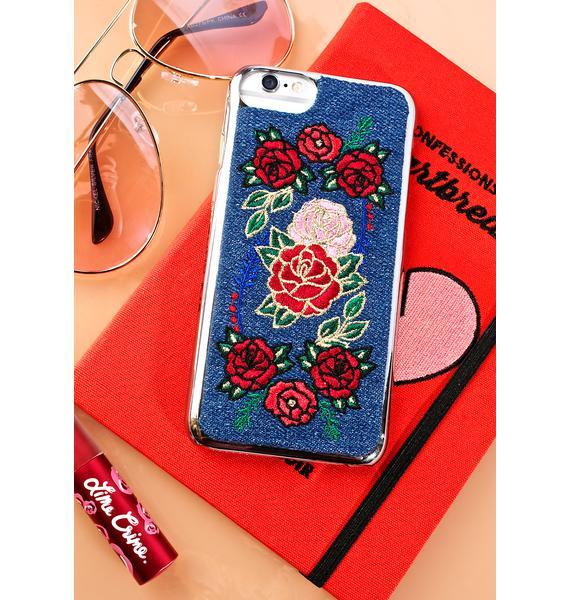 Skinnydip Denim Floral iPhone Case