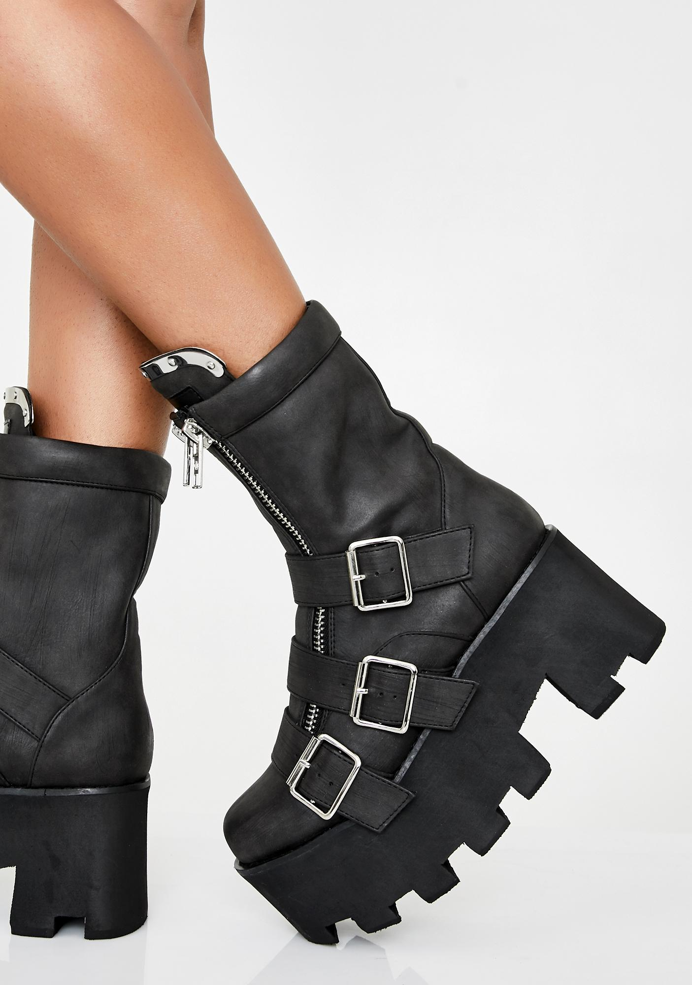 Current Mood Detroit Platform Boots
