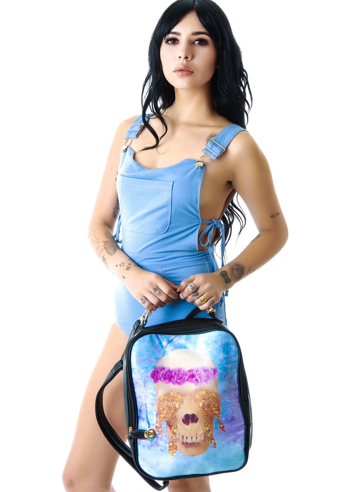 All That Glitters Skull Backpack