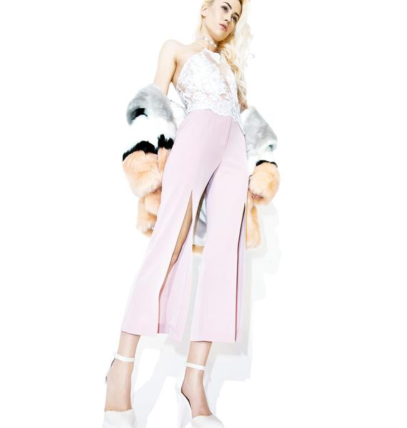 Bisou Front Slit Pants