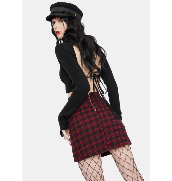 Heart Recess Rebel Plaid Skirt