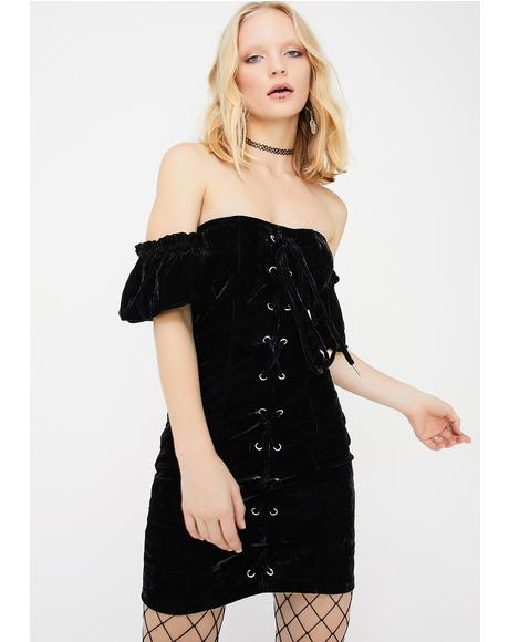 Firzt Luv Off The Shoulder Dress