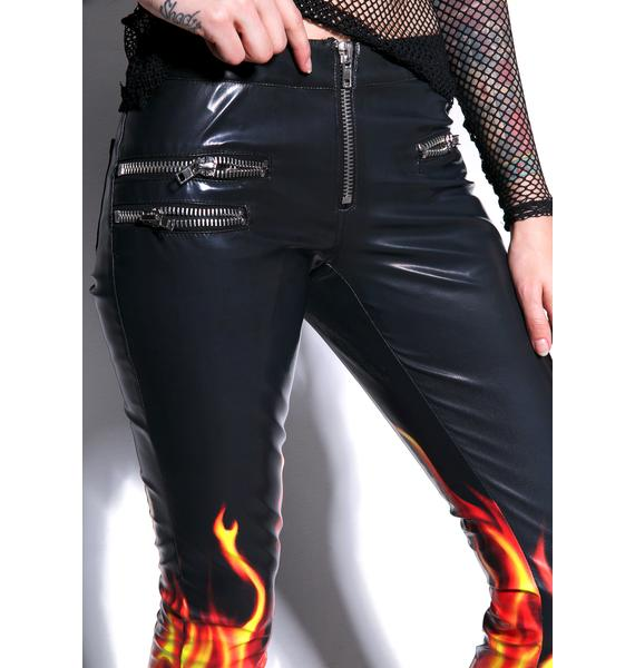 24HRS Flamin' Hot Moto Pants