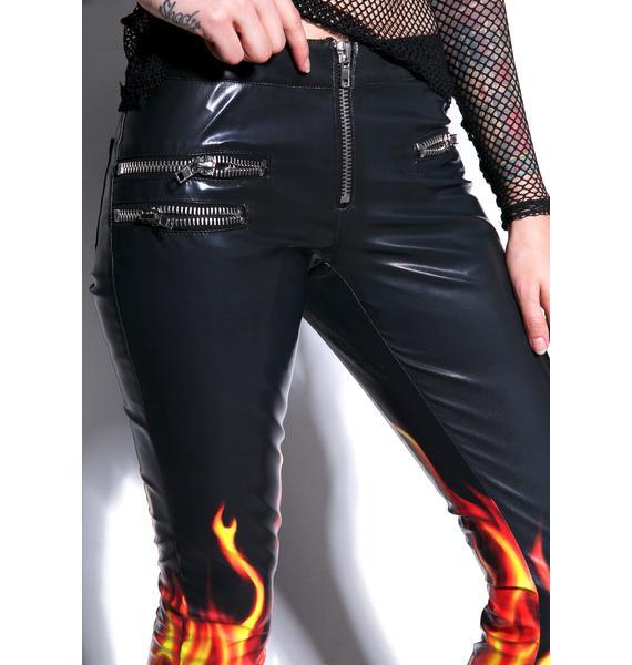 24HRS Flamin? Hot Moto Pants