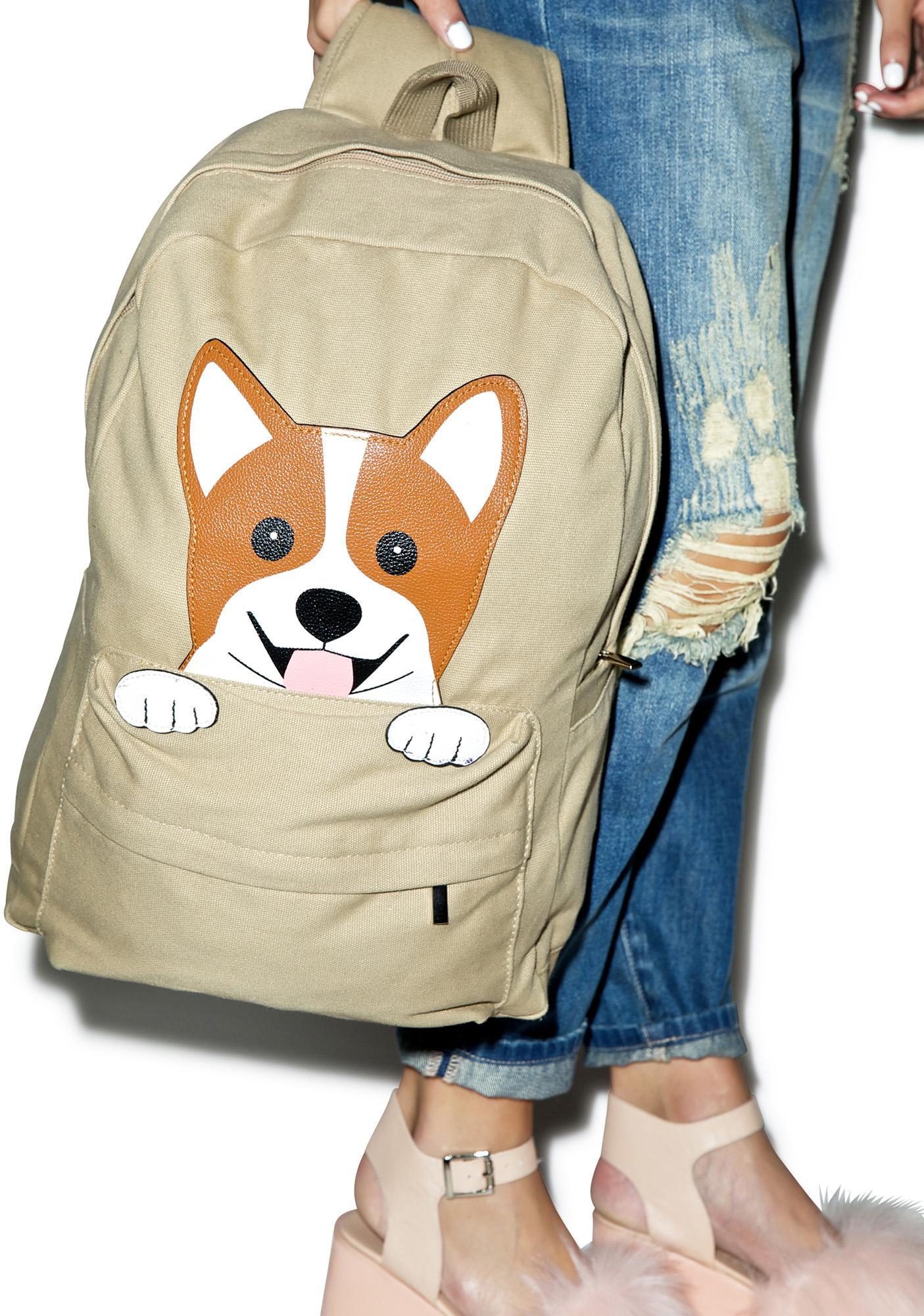 Happy Corgi Backpack