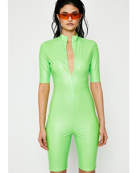 Nuclear Fashion Obsession Coated Romper