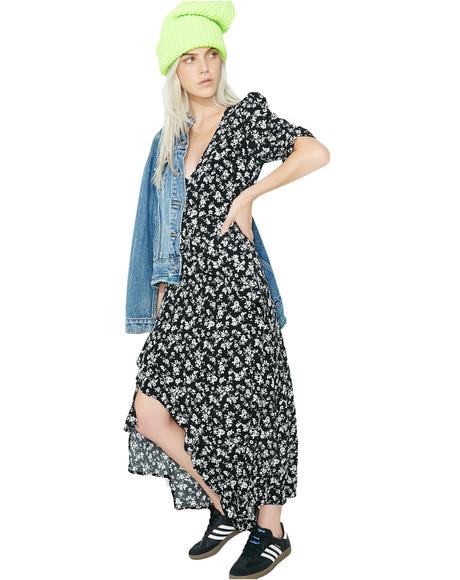 Bloomin' Iris Midi Dress
