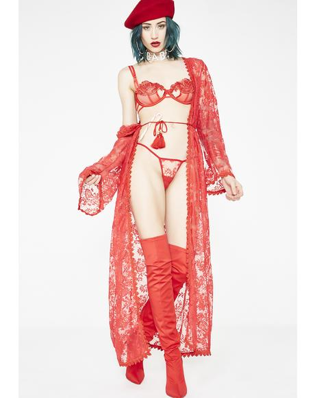 Siren Elvira's Maxi Robe Set