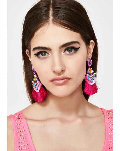 Dramatic Scene Tassel Earrings
