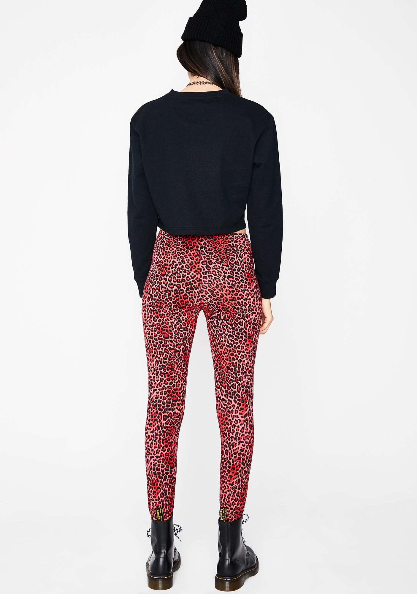 Motel Red Rar Leopard Sco Pants