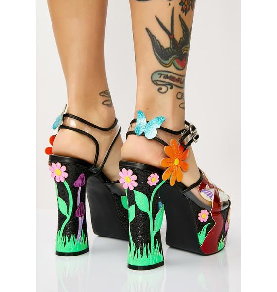 Current Mood Fantasia Garden Platform Sandals