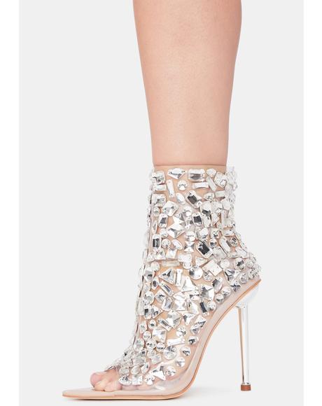 Kygo Peep Toe Heels