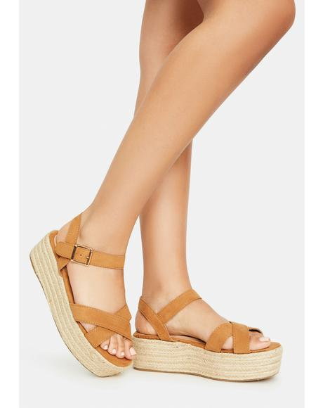 Sand So It Goes Strappy Espadrilles